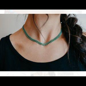 Lace Brick Design - Fishtail Necklace